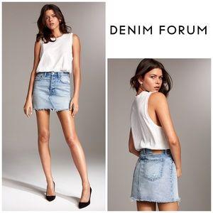 Denim Forum The Edie Mini Skirt in Light Blue